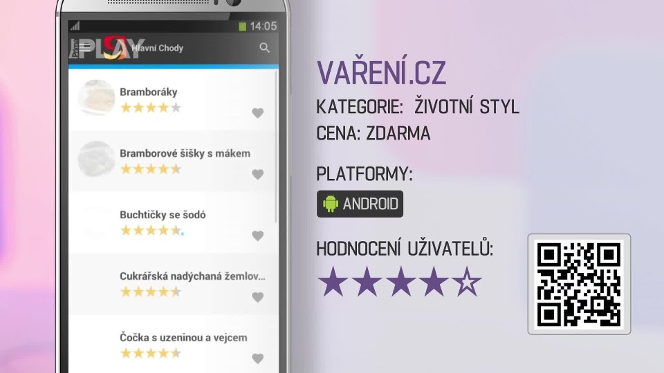 Prima Rádce - Aplikace VAŘENÍ.CZ