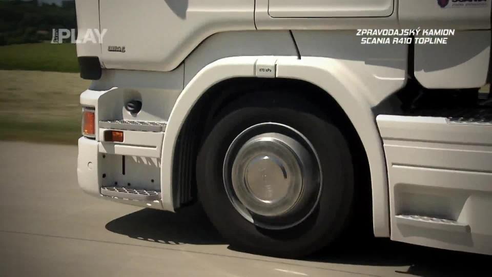 Zpravodajský kamion Scania R410 Topline