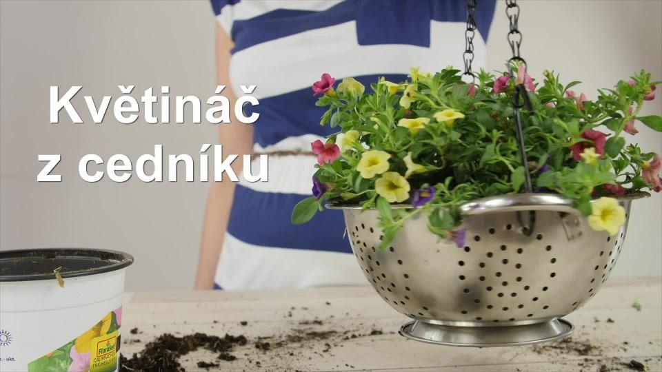 prima DIY - Květiny v cedníku