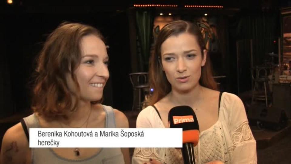 Herečky Berenika Kohoutová a Marika Šoposká v SJK