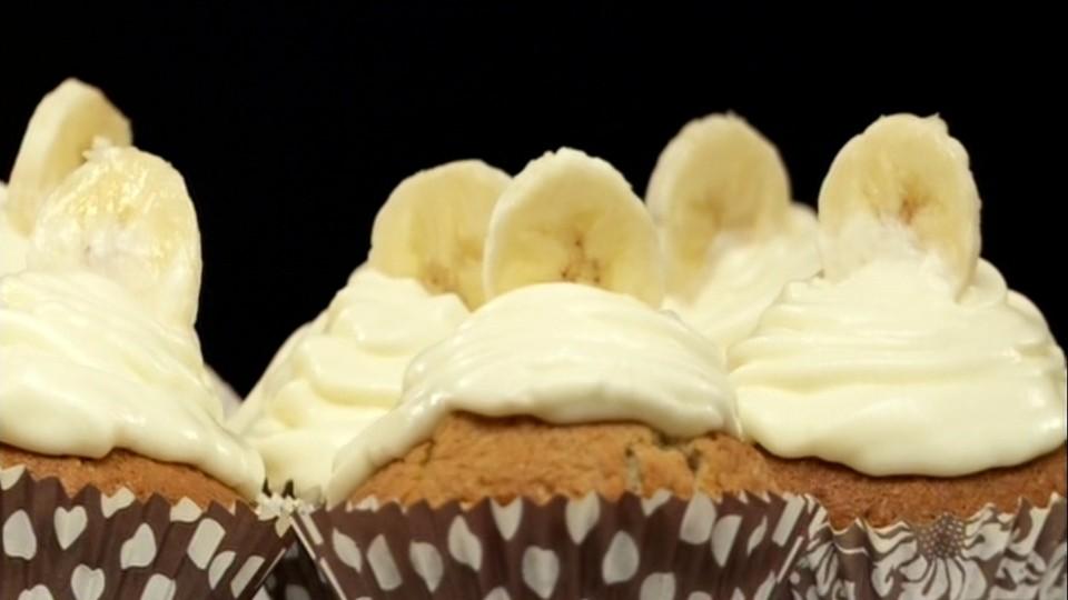 Vánoční pečení (8) - Banánový cupcake