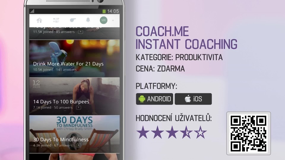 Prima Rádce - Aplikace Coach me