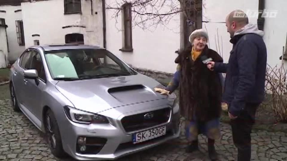 Babča v Subaru Impreza WRX STI