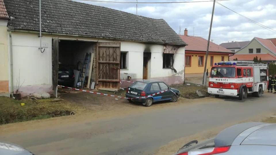 Tragický požár v Oleksovicích na Znojemsku
