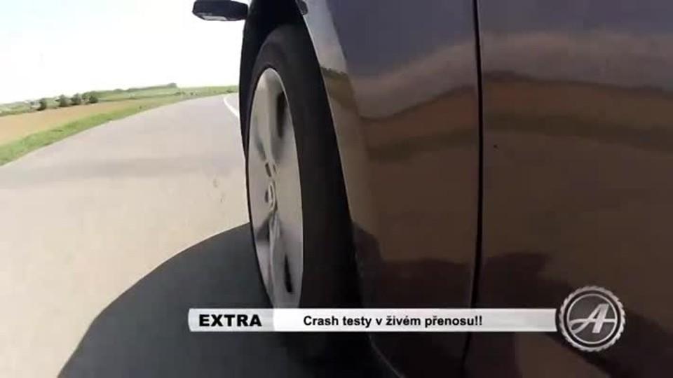 Crash testy v živém přenosu