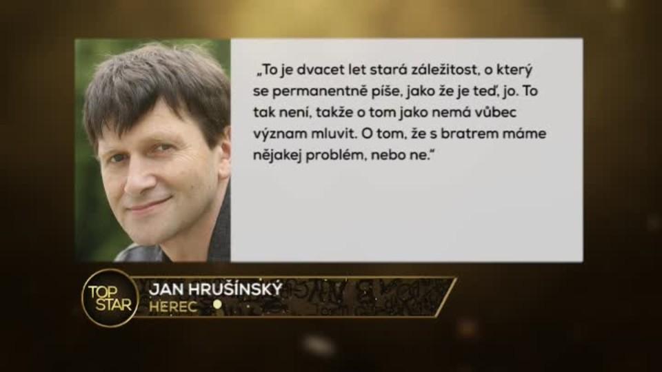 TOP STAR 30.3.2016 - Jan a Rudolf Hrušínští - usmíření