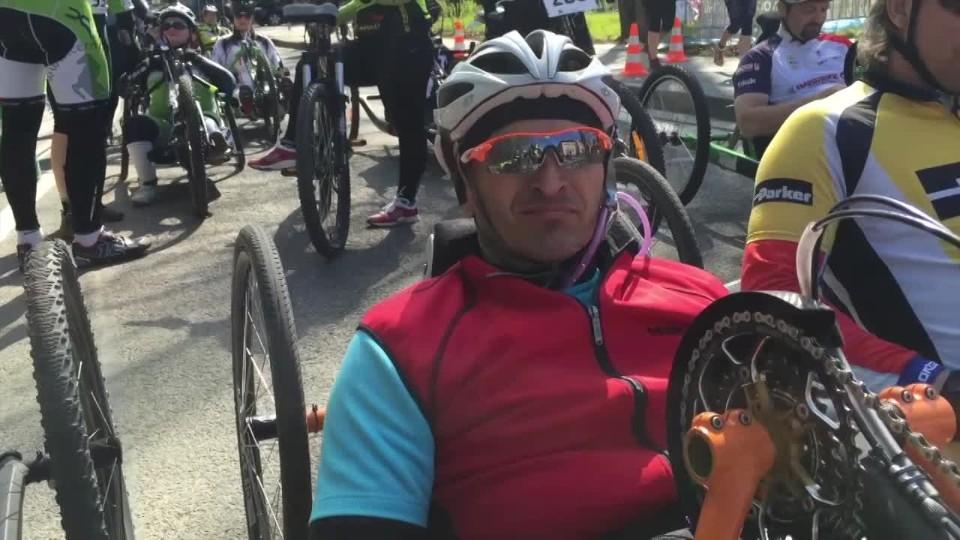 Český pohár hadicapovaných cyklistů - Felix Újezdský duatlon 2015