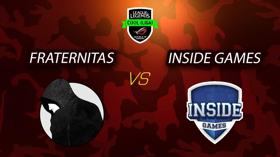 ROG COOL Liga - League of Legends - Fraternitas vs Inside Games - 1. mapa