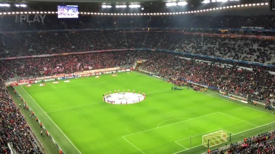 Atmosféra na stadionu před zápasem Bayern Mnichov - CSKA Moskva (10.12.2014)