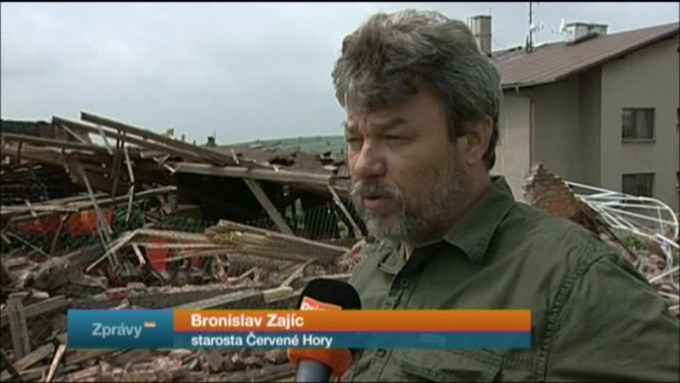 Tornádo pustošilo českou vesnici