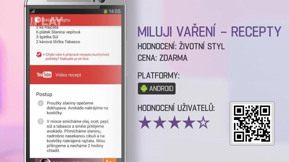 Prima Rádce - Aplikace MILUJI VAŘENÍ