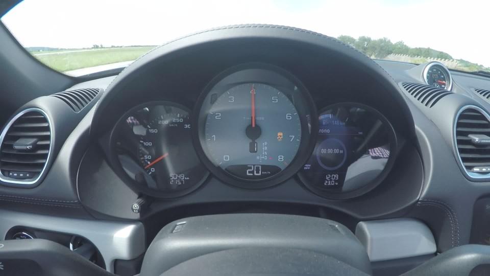 Porsche 718 Boxter S 0-255 km/h